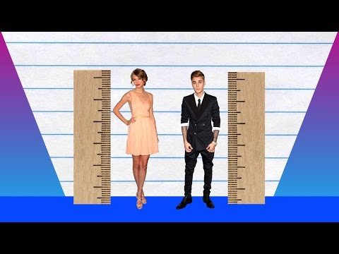 How Much Taller? - Taylor Swift vs Justin Bieber!