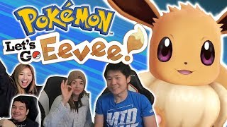 IT'S SHINY! | Pokémon LET'S GO EEVEE! ft. Pokimane, Greekgodx & xChocoBars | Switch Stream Highlight