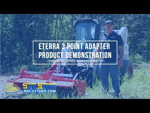 Eterra Motorized Quick Hitch 3-Point Adapter with Tiller