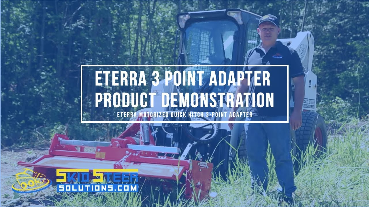 Eterra Motorized Quick Hitch 3-Point Adapter with Tiller Attachment -  Product Demonstration