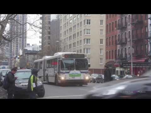 Buses of the Upper East Side in Manhattan, New York