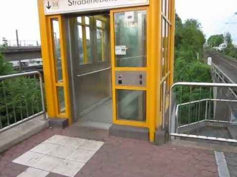 Kone hydraulic glass elevator at Propsthof Nord subway station in Bonn