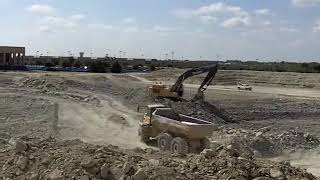 Heavy Equipment in Action at a Job site