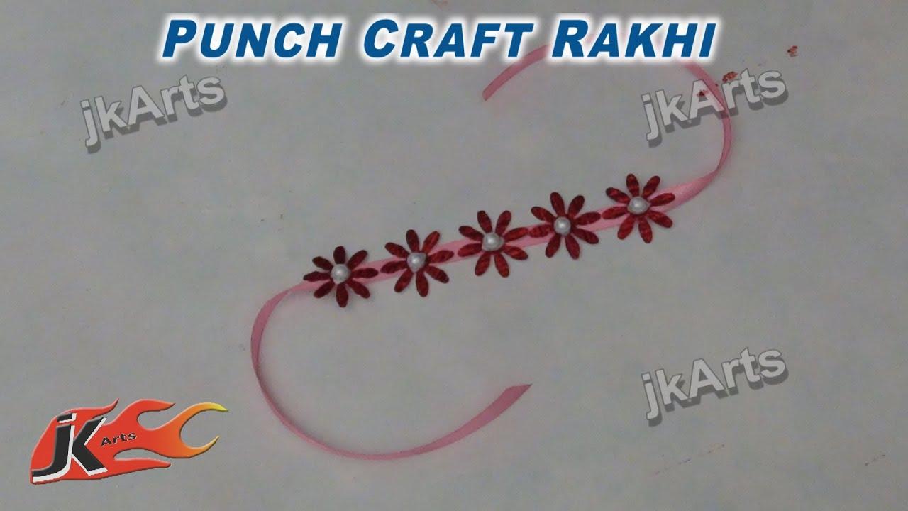 DIY Punch Craft Rakhi For Raksha Bandhan