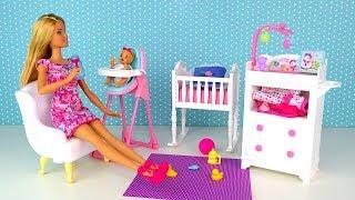 ДЕТСКАЯ КОМНАТА ДЛЯ ДЕВОЧКИ Пьёт из Бутылочки Куклы #Барби Новый Набор Игрушка