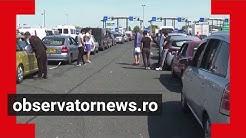 Vama Nădlac a depășit granița răbdării. Zeci de mii de români au stat la cozi pentru a intra în țară
