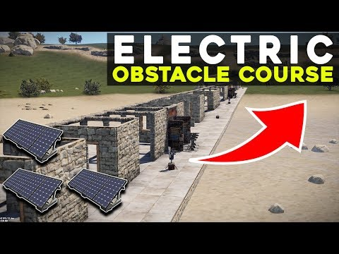 TESTING players in my *ELECTRIC* OBSTACLE COURSE! - Rust Electric Trap Base thumbnail