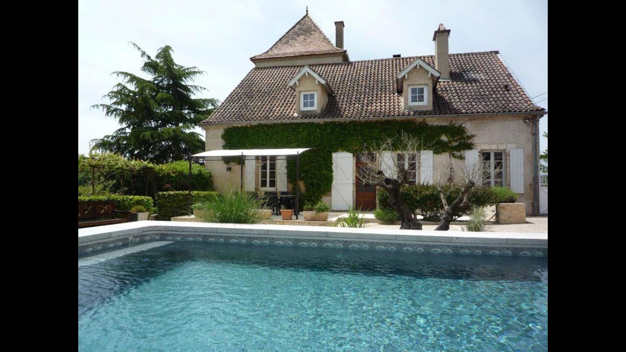 Vakantiehuis met priv zwembad bij cahors in de lot vakantiehuis in lamagdelaine lot youtube - Outs zwembad in de tuin ...