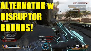 Apex Legends S2 - NEW Alternator w Disruptor rounds! Best gun now! | Crazy Solo win!