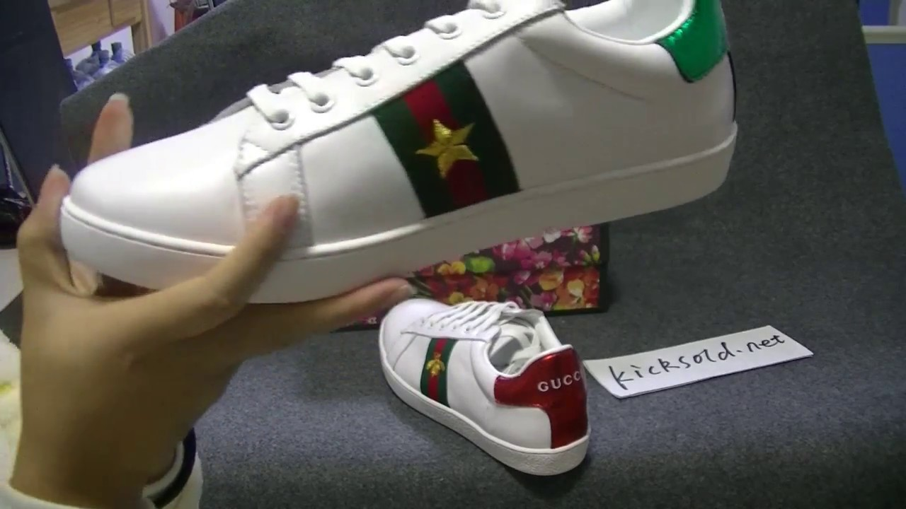 d2908c70245c67 Gucci - Ace Leather Low-Top Sneaker (White) Review - YouTube