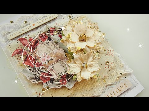 Layered Christmas Card Tutorial ♡ Maremi's Small Art ♡ thumbnail