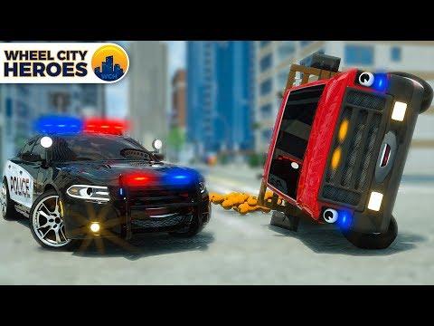 Police Car Helps Van full of Oranges | Wheel City Heroes | Street Vehicles Cartoon for Kids