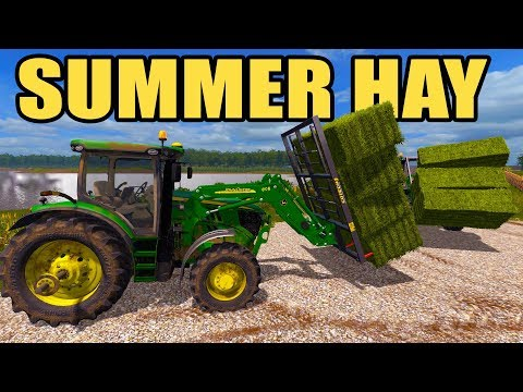 THE 6R CAN BARELY LIFT THE BALES + NEW HOLLAND MOWING & BALING | FARMING SIMULATOR 2017 EP #45