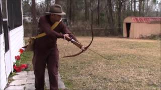 kashtuk shortbow practice with new bamboo arrows