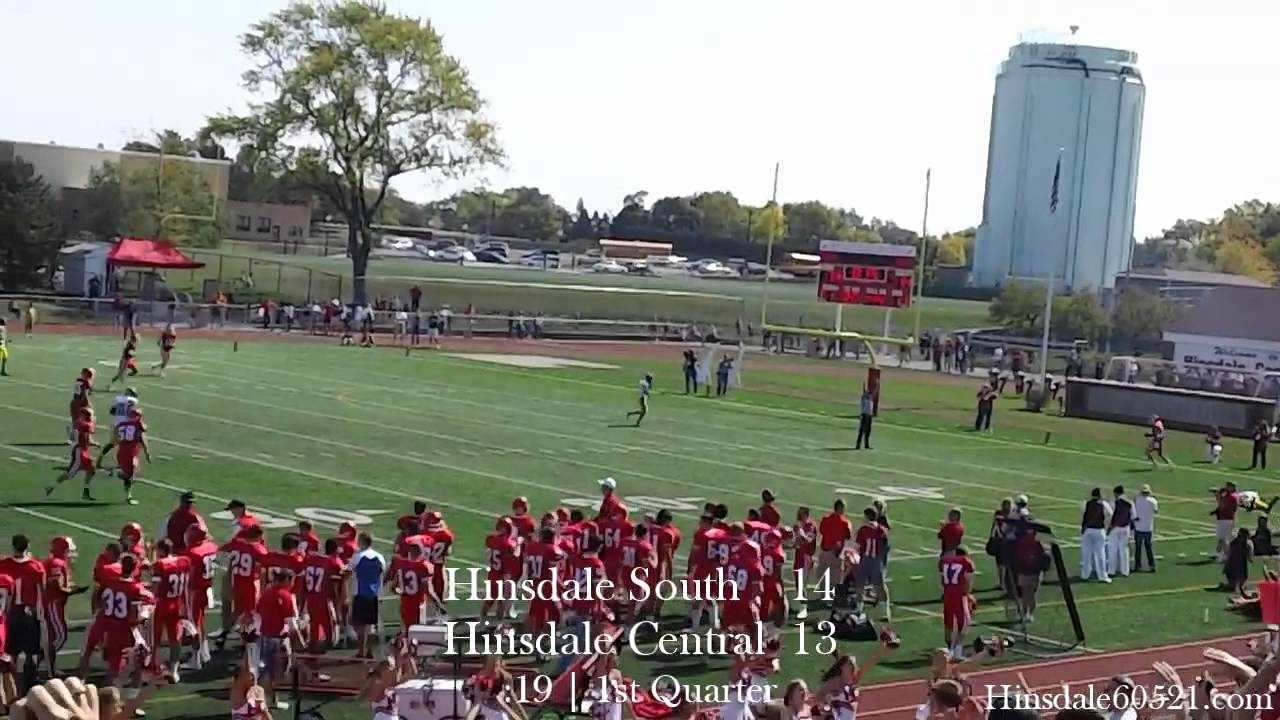 Hinsdale Central Football Highlights Vs Hinsdale South Homecoming