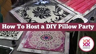 How to Host a DIY Pillow and Tote Making Party