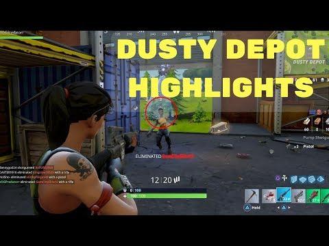 Dusty Depot! | Fortnite Battle Royale Highlights #1