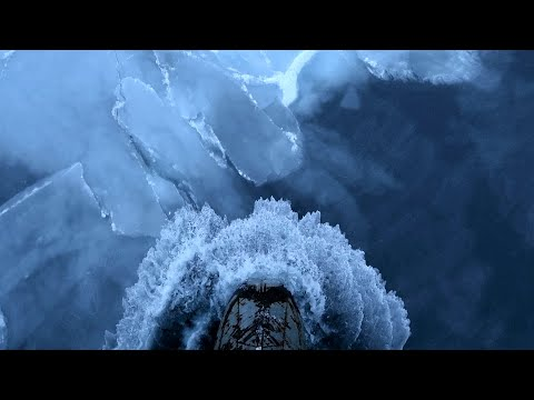 Arctic Hauler Crunching Through Ice Fields | Beautiful HD Slowmo
