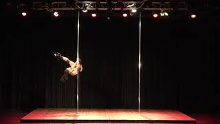 2018 US Pole Dance Championship Novice Level 2 Sexy Division - Makeda