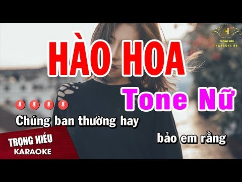 Karaoke Hào Hoa Tone Nữ   Cha Cha Cha Vip   Nhạc Sống Trọng Hiếu