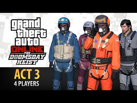 GTA Online: Doomsday Heist Act #3 with 4 Players (Elite & Criminal Mastermind IV)