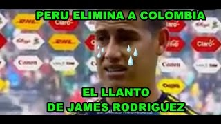 James Rodriguez Llora luego de que Perú elimina a Colombia (Copa América 2015)