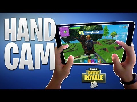 FORTNITE MOBILE IPAD PRO HAND CAM! See How I Build & Fight Players