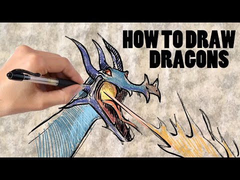 Tips on Drawing  Dragon Flames: Tutorial Tuesday thumbnail