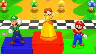 Mario Party 9 - Minigames - Mario vs Luigi vs Daisy (Master CPU)