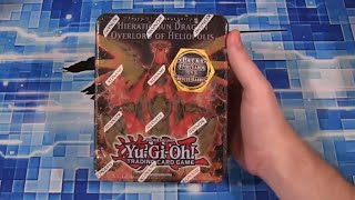 Yugioh Hieratic Sun Dragon Overlord of Heliopolis Tin Opening