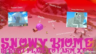 ROBLOX Booga Booga | SNOWY BIOME IS BEST PLACE TO LEVEL UP?!!!