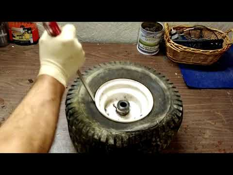 Installing Inner Tubes On Your Riding Mower Tires.