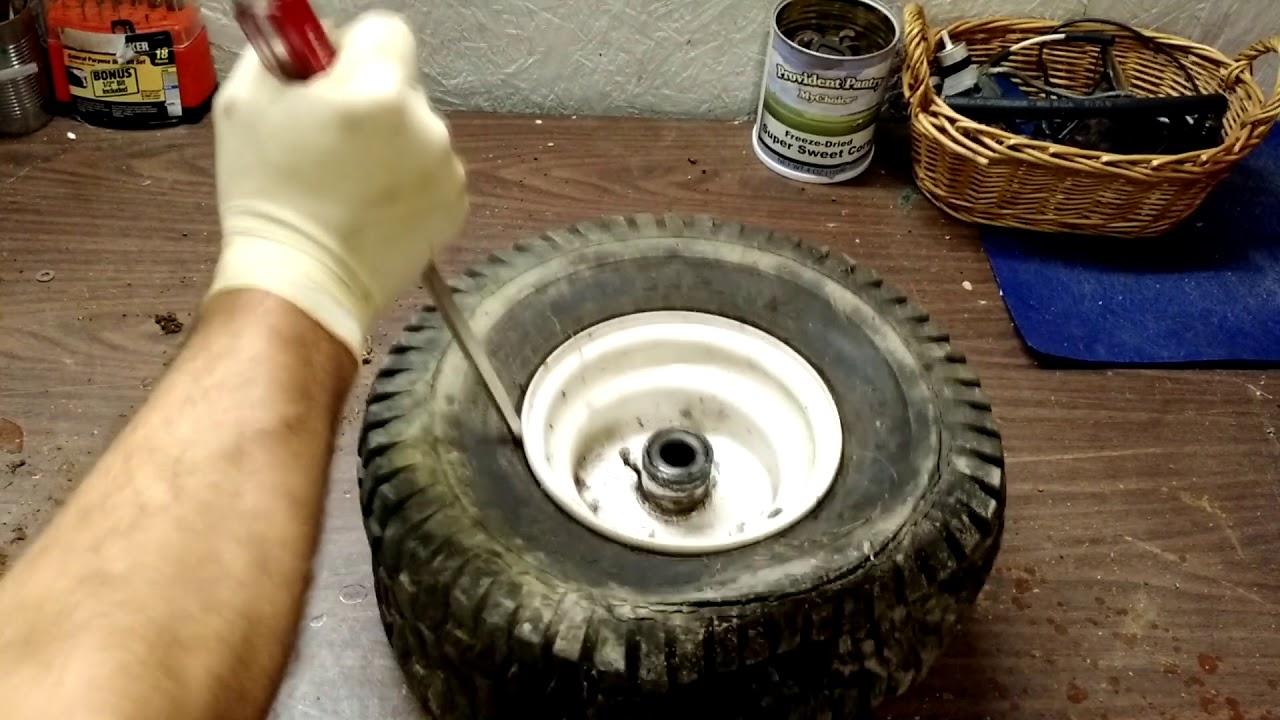 Installing Inner Tubes On Your Riding Mower Tires Youtube
