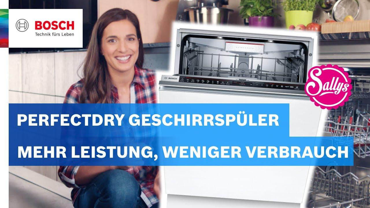 Die PerfectDry Geschirrspüler reinigen und trocknen perfekt | Bosch Neuheiten mit Sally