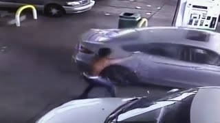 Video shows Detroit gas station shooting
