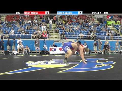 Junior 285 - Nolan Malloy (Oklahoma) vs. Robert Barrios (California)