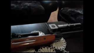 Chinese Air Rifle B2-4 And Homemade Dueling Tree Target