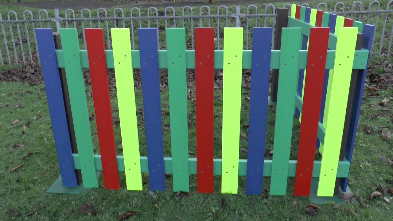 Recycled Plastic Multicoloured Fencing