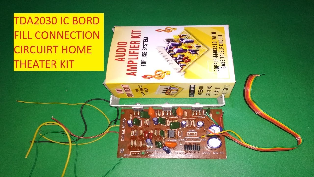 small resolution of tda2030 audio amplifier kit for home theater system tda2030 transistor with 4558 ic wiring full