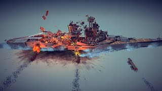 Satisfying Random Destruction #10 Feat. Triple Torpedo Strike | Besiege