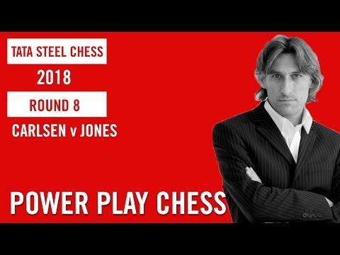 Tata Steel Chess 2018 Round 8 Magnus Carlsen v Gawain Jones