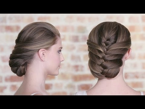 How To Create a French Fishtail Braid Updo