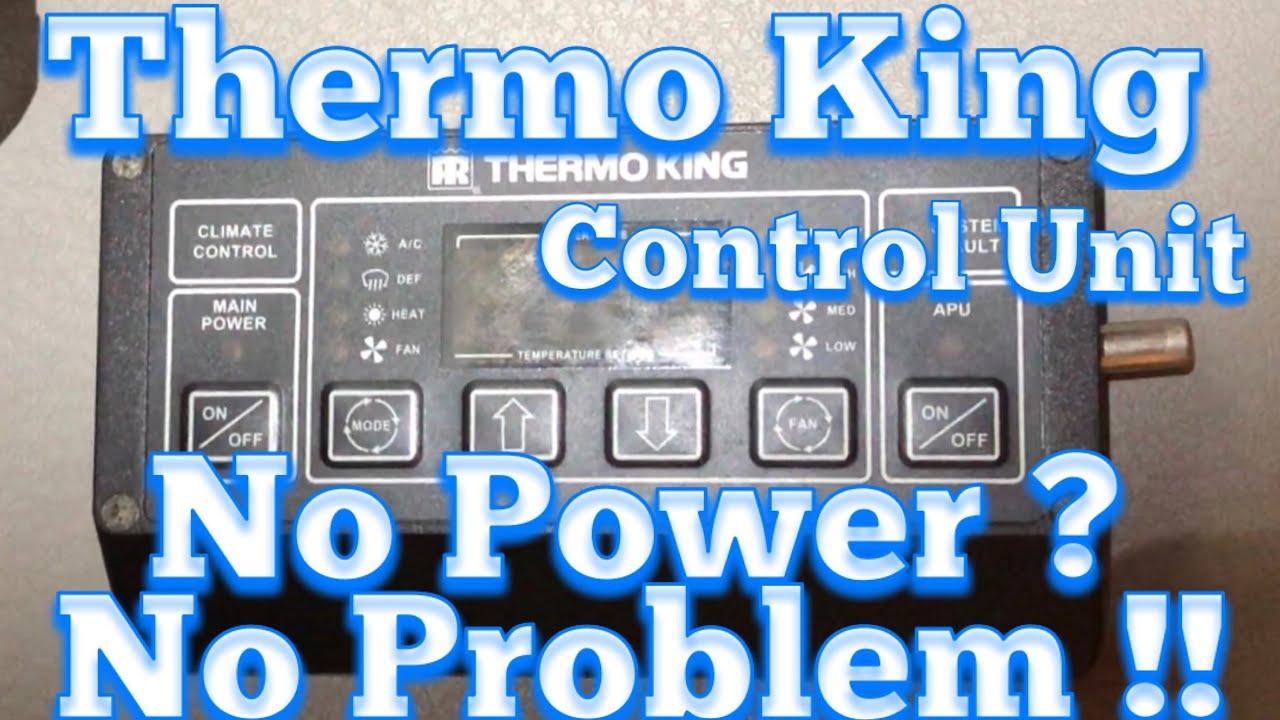 thermo king tripac wiring diagram two way lighting apu control box no power youtube