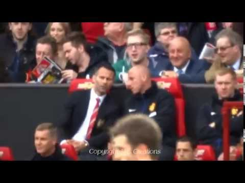 Ryan Giggs Entrance as Manager to Huge Applause Manchester United 4-0 Norwich 26/4/14