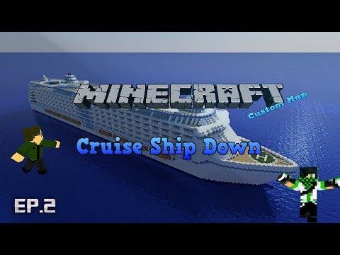 [RO]Minecraft Custom Map - Cruise Ship Down - part 2