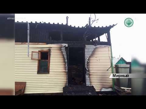 В Мирном сгорели дачный дом и частная баня