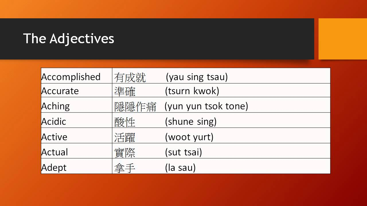 adjectives that start with the letter s cantonese adjectives series adjectives beginning with the 20397
