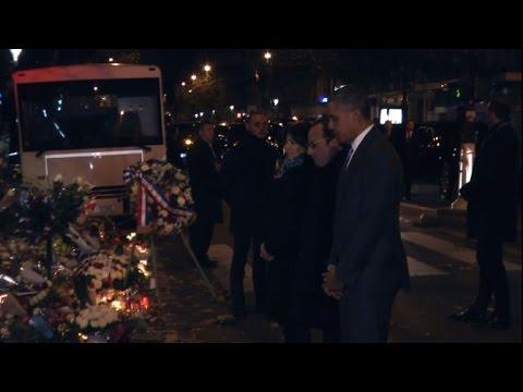Attentats: Hollande et Obama au Bataclan pour un hommage