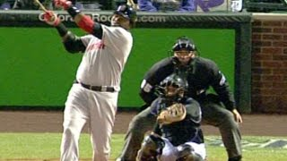 10/27/07: David Ortiz hits an RBI double in the top of the 3rd to g...