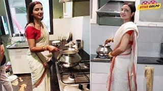 বিয়ে হতে না হতেই রান্না বান্না শুরু করে দিয়েছেন শুভশ্রী। Raj Subhashree married life   Star Golpo